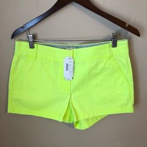 NWT J. Crew broken in chino shorts size 8